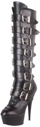 Matte PU Femmes Bottes Pleaser Blk DEL2049 Leather Blk B Faux ExTqIFw1z