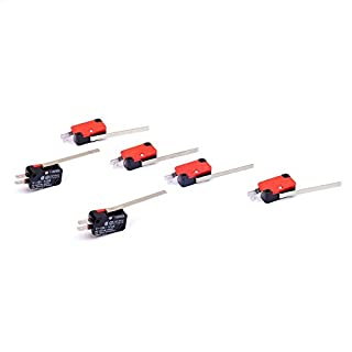 Cylewet 6Pcs V-153-1C25 Micro Limit Switch Long Straight Hinge Lever Arm SPDT Snap Action (Pack of 6) CLW1068