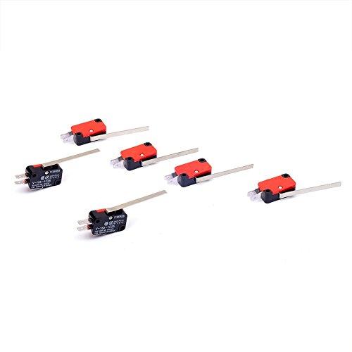 Cylewet V-153–1C25Mikro-Endschalter mit langem geradem Scharnier, Hebelarm SPDT für Arduino (6Stück) CLW1068 -