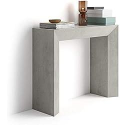 Mobili Fiver Giuditta, Tavolo Consolle, Colore Cemento, in Nobilitato, 90 x 30 x 75 cm