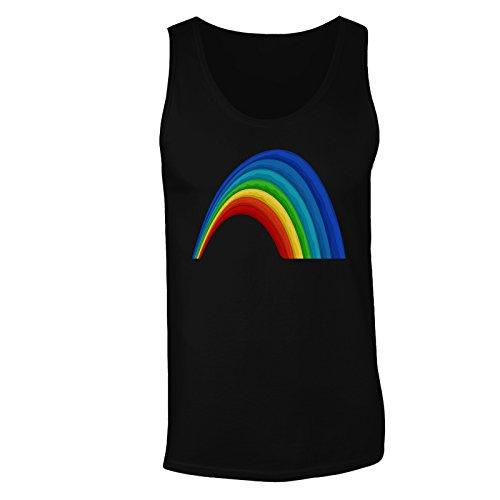 Nuova Arte Arcobaleno Colorata canotta da uomo l442mt Black