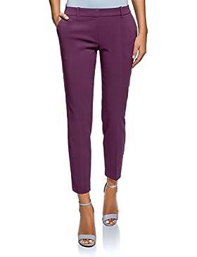 oodji Collection Mujer Pantalones Básicos con Pinzas