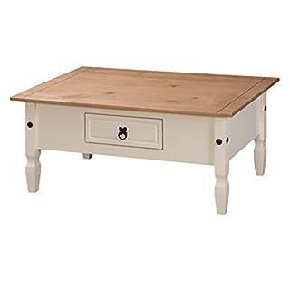 Mercers Furniture Corona Couchtisch Holz Cream/Antique Wax 100 x 60 x 45 cm