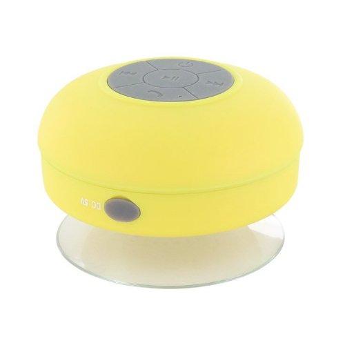 Bluetooth Cassa Altoparlante Speaker Giallo a Ventosa Impermeabile X Cellulare