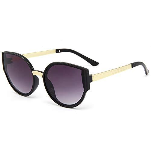 YYXXZZ Sonnenbrillen Sonnenbrille aus Metall mit rundem Gestell Jungen Mädchen Sonnenbrille, Schwarz Lila