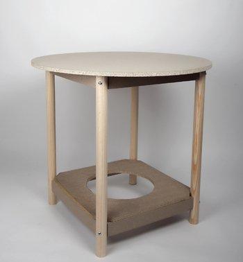 Mesa CAMILLA con BRASERO. REDONDA. Disponibles en diferentes tamaños (80 cm diámetro)