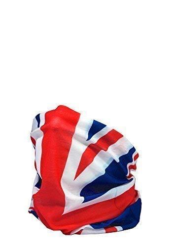 RUFFNEK Multifunktioneller Halswärmer Kopfbekleidung - Union Jack Flagge - Einheitsgröße -