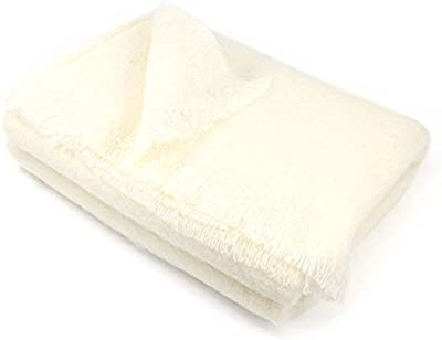 Manta 180x 220cm lana mohair 320G/m² Thesee blanco natural