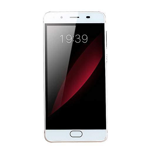 "Oasics Smartphone, WiFi Bluetooth GPS 4G Vollbildanruf 5,0""Ultradünne Android5.1 Quad-Core 512 MB + 512 MB GSM WiFi Dual-SIM-Dual-Kamera intelligentes Mobiltelefon (Weiß)"