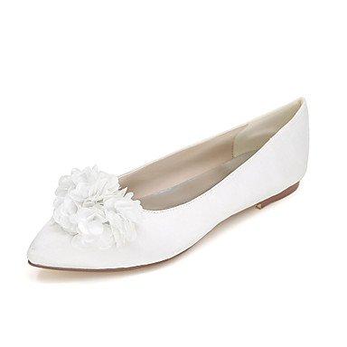 Confortevole ed elegante piatto scarpe donna Appartamenti Primavera / Estate / Autunno Punta / Appartamenti nozze di seta / Party & Sera champagne