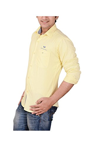 Anry-Yellow-Cotton-Casual-Shirts-for-Men-YEL4100