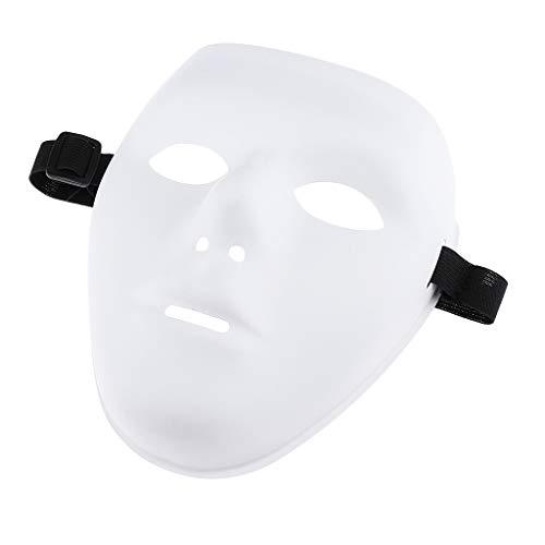 Baoblaze Halloween Party Maske Jabbawockeez Maskerade Kostüme Horror Film Cosplay - Weiß