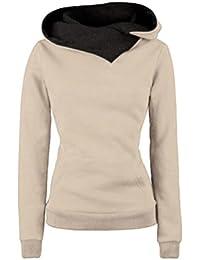 CHENGYANG Sweats à Capuche Manches Longues Pullover Sweater Hoodies Sweat-shirt de Sport Sweatshirts Tops Jumper uni pull Hauts femme