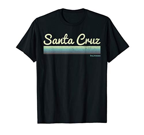 California Vintage Vintage T-shirt (Santa Cruz California Retro Distressed Surf T-Shirt)