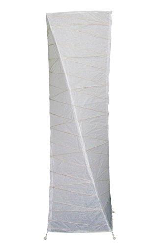Lámpara de pie, papel blanco y patas metal–Para un salón con ambiente dulce–105cm