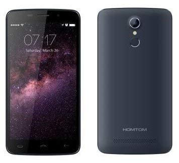 HOMTOM HT17 PRO - Android 6.0 4G Smartphone 2GB de RAM + 16 GB, 5.5 pulgadas de alta definición de 13 MP reconocimiento de huellas digitales (Negro-azul)