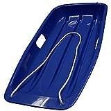 Arrow Großer Kunststoffschlitten mit Seil, für Erwachsene, Blau