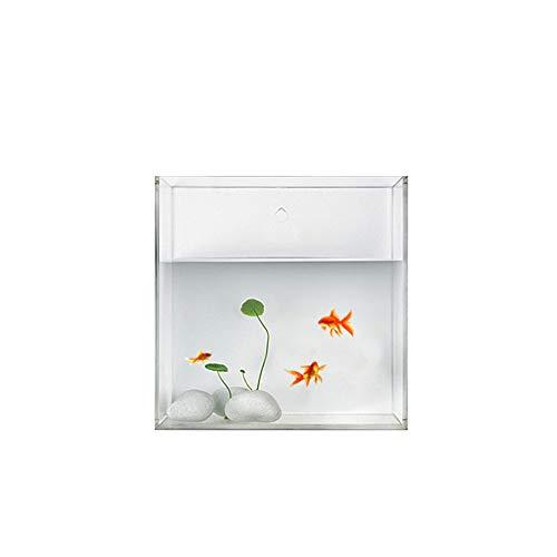 Ecological aquarium box mini acquario decorazione a parete serbatoio trasparente per pesci rossi acrilico,s