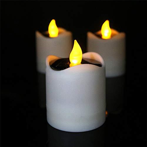 6er Set LED Tafelkerzen Stabkerzen Echtwachs in crème LED warmweiß 5.8 * 7.5CM 5.8 * 7.5CM - Sattelstütze Boot