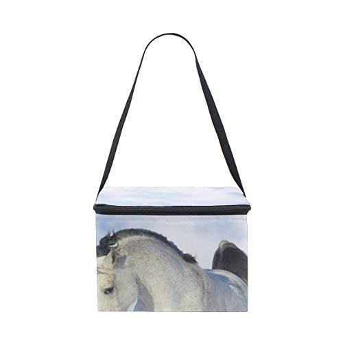 Montoj Lunch-Tasche, isoliert, Motiv scheuendes Pferd