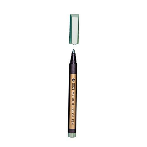 1 Stück Farbige Textmarker Wasserdicht Permanent Metallic Marker Stifte Für Weiße Pappe Kraftpapier Fotoalben DIY Dekorationen, Lingt Grün
