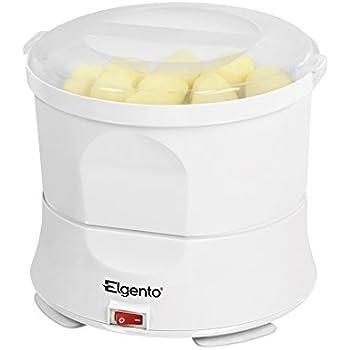 Elgento E010 Potato Peeler and Salad Spinner, 70 W - White