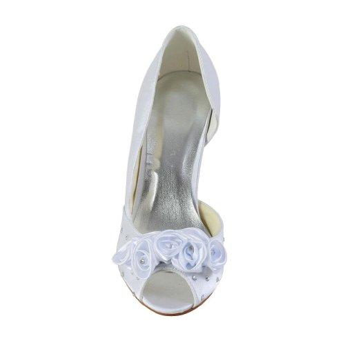 Jia Jia Wedding 594943A chaussures de mariée mariage Escarpins pour femme Blanc