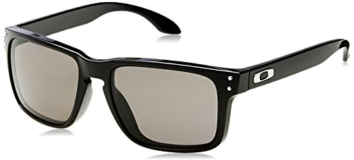 Oakley Men's Holbrook (a) Non-Polarized Iridium Rectangular Sunglasses, Polished Black, 56.3 mm