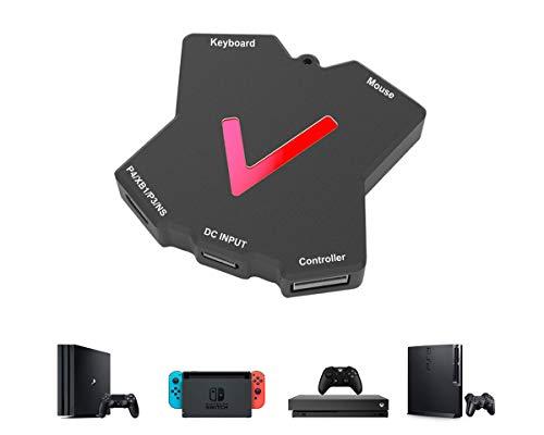 ElecGear KM-Pro Tastatur und Maus Adapter für Konsolen, USB Gaming Controller Konverter kompatibel mit PS4, Xbox One, Nintendo Switch, PS3 und Xbox 360