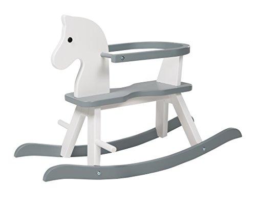 roba Cheval à bascule en blanc et gris, cheval à bascule suit...