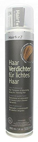 Hairfor2 Haarverdichtungsspray hellbraun, 1er Pack (1 x 400 g)