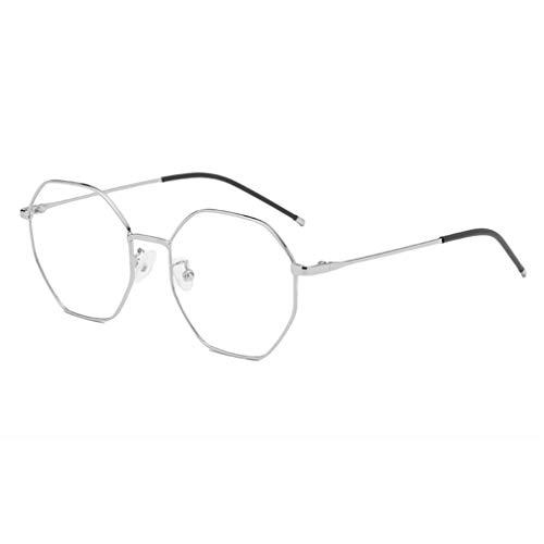 Hibote Männer Frauen Achteck Brille - Klare Linse Brillengestell - Mode Brillen Eyewear - 18082307