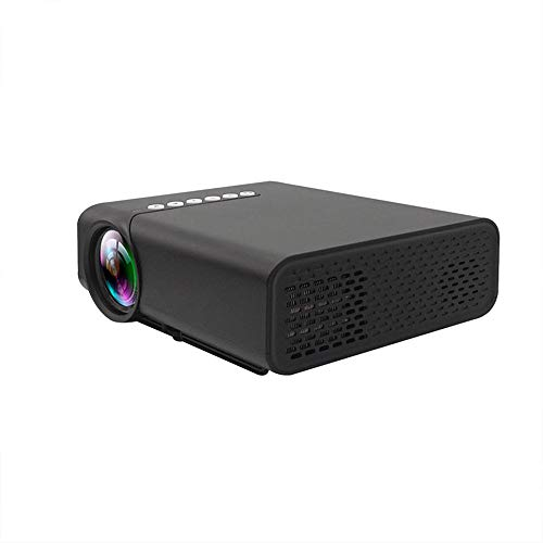 YG520 Mini Beamer,1800 Lumen, USB Kino Multimedia AV SD Heimkino Projektor,Tragbarer LED Projektor, Full 1080P HD Visueller Videoprojektor (Schwarz)