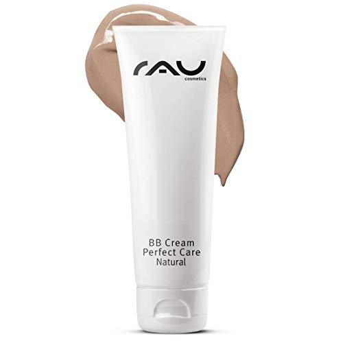 RAU Cosmetics BB Cream Perfect Care Natural 75 ml - feuchtigkeitsspendende Gesichtspflege und Make-up in Einem - kaschiert Pickel, Mitesser und Hautunreinheiten - für einen makellosen Teint