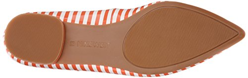 Nine West Onlee Toe Pointy synthétique plat White/Orange Synthetic