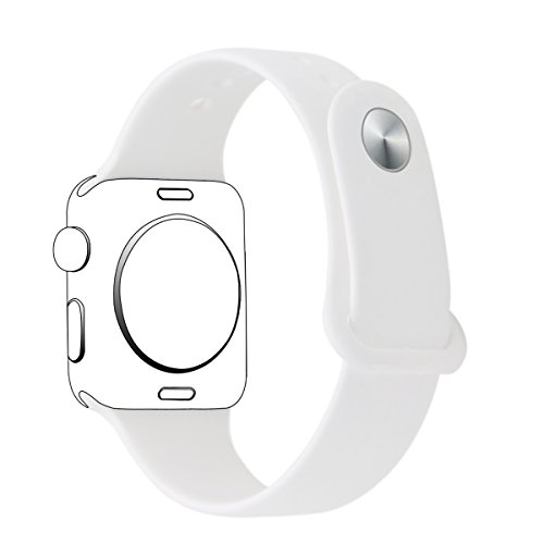 XIHAMA Strap for Apple Watch S4 38mm,Soft Silicone Replacement band Sports Wristband Bracelet for iWatch Series 4,Series 3, Series 2, Series 1 (38mm, white)