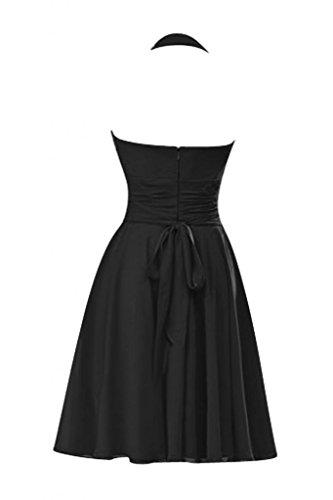 Victory bridal abendkleider court tendance nouer en chiffon sommerkleider tanzkleider brautjungfernkleider Noir - Noir