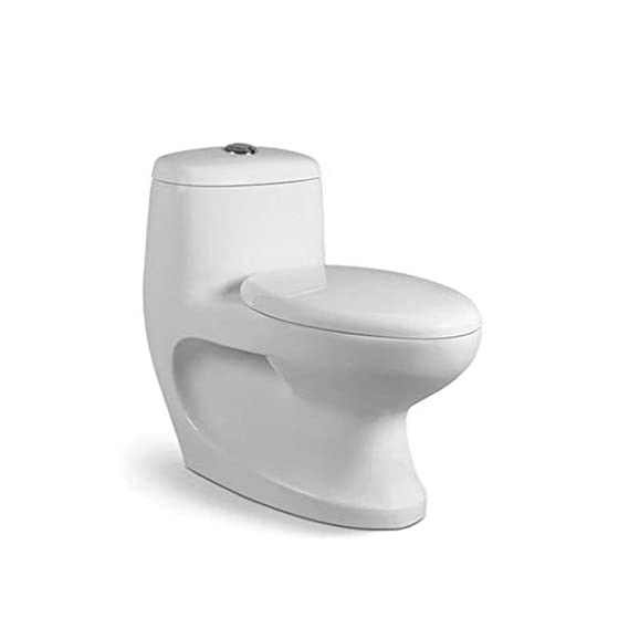 Ceramic Floor Mounted One Piece Water Closet White (S Trap)
