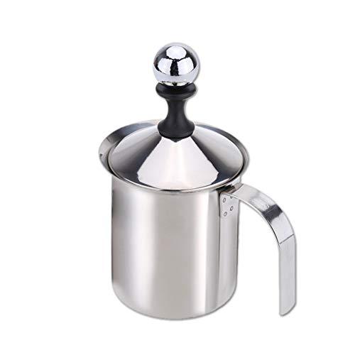 YSCCSY 400Ml in Acciaio Inox Latte Schiumatore Double Mesh Latte Schiumogeno DIY Fantasia Bianco Coffe Maker per Cappuccino Latte