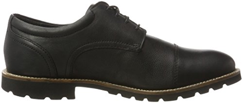 Rockport Modern Break Captoe Oxford, Chaussures à Lacets Homme Noir (noir)