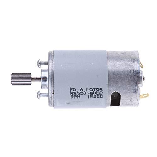 Hellery Elektromotor DC Motor Getriebemotor für Kinder Fahrzeug Auto - 6V 550 10 Zähne 8.5mm Dc-10-auto