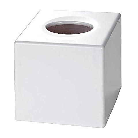 Satin White Cube Tissue Box Cover (Case Qty