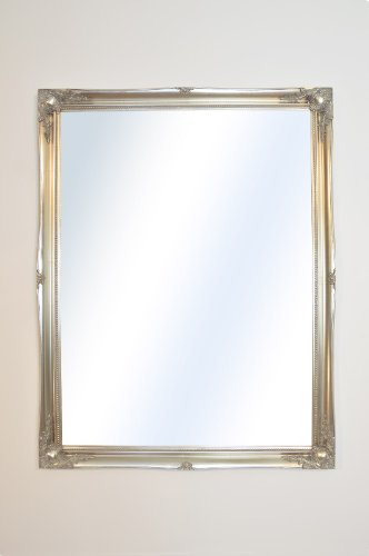 Large Silver Shabby Chic Ornate Wall Big Mirror New 4Ft6 X 3Ft6 137cm X 106cm