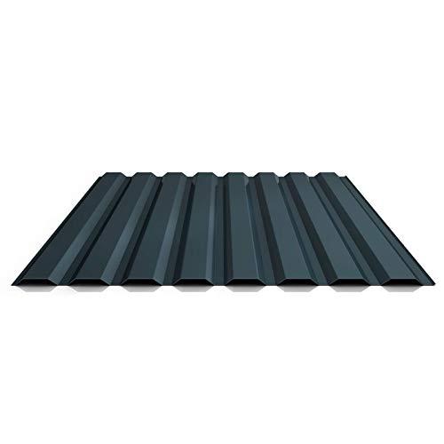Trapezblech | Profilblech | Wandblech | Profil PS20/1100TW | Material Stahl | Stärke 0,50 mm | Beschichtung 25 µm | Farbe Anthrazitgrau