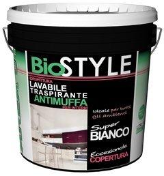 Pittura murale lavabile antimuffa per interni BIOSTYLE LT 14