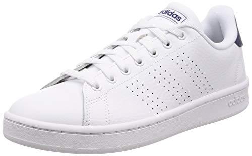 adidas Advantage Chaussures de Tennis Homme, Multicolore FTW Bla/Azuosc 000, 42 EU