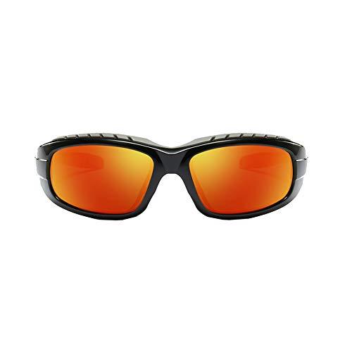 YSAGNZQ Polarized Glasses - Mens Fashion Sonnenbrille zum Fahren Radfahren Angeln Golf Anti Glare UV-Schutz Superlight Sport Goggle,Orange