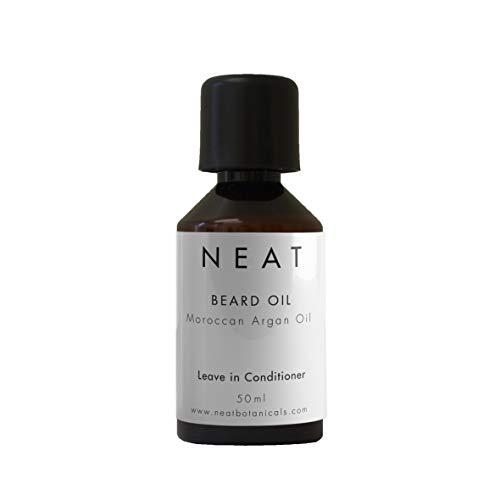 Bartöl von NEAT   Geschenk für Männer: Bartpflege & Bartwachs   Biologisches Bartöl mit Arganöl 50ml   Alternative zu Bartbürste & Bartshampoo
