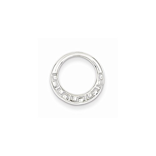 Argent Sterling Rhodium plaqué Slide-JewelryWeb grec cercle 1dd2c105520