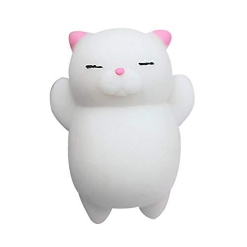 CHANNIKO-ES Encantador Gato de Dibujos Animados Squishy Toy Stress-Relief Soft Mini Animal Squeeze Toy Descompresión Healing Toy Gran Regalo